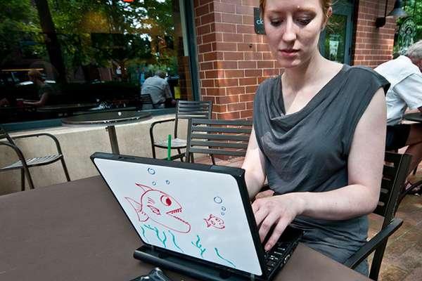 Doodling Laptop Whiteboards
