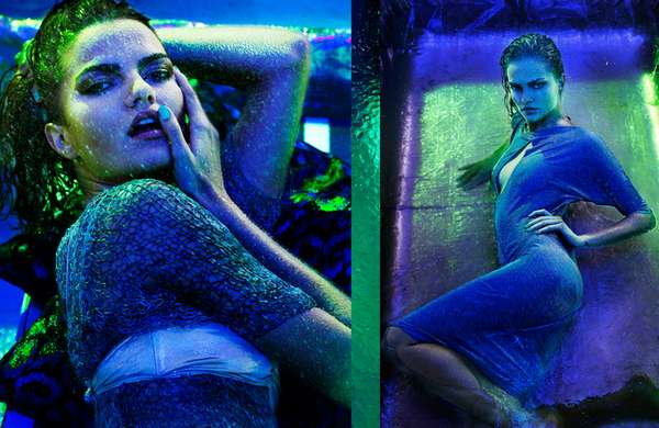 Neon-Drenched Shoots