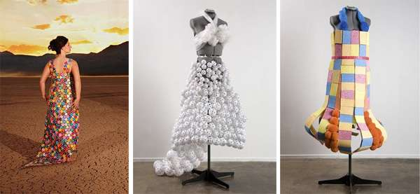 Clothing Designer Making Clothes Out Of Plastic