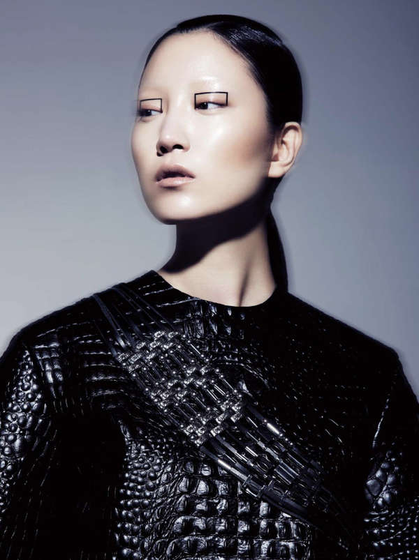Geometric Eyeliner Editorials