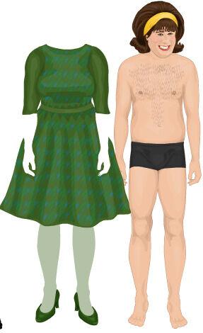 Adult dress up doll, nude zero suit