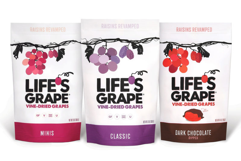 Vine-Dried Grape Snacks