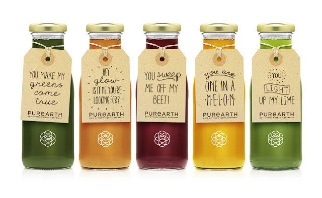 Punny Juice Packaging Drink Bottles