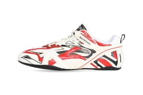 Geometric Tonal Luxe Sneakers
