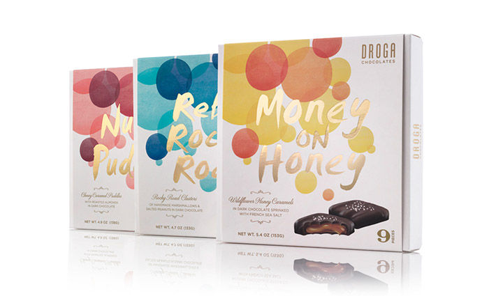 Vivid Color Chocolate Branding