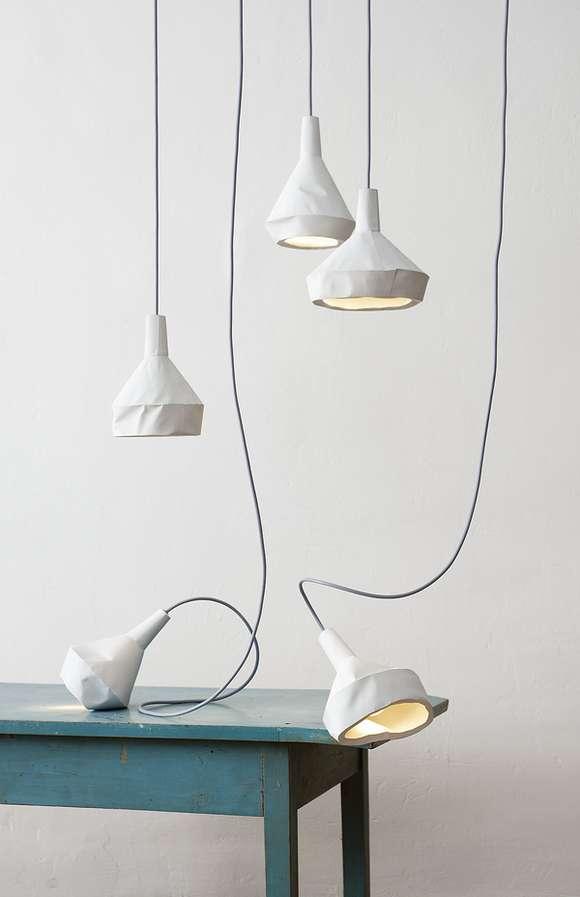 Concrete Paper Lights