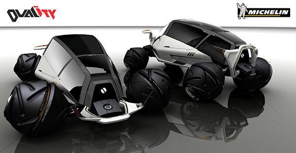 Rotating Tire Automobiles