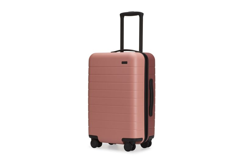 Sleek Dual-Tone Suitcases