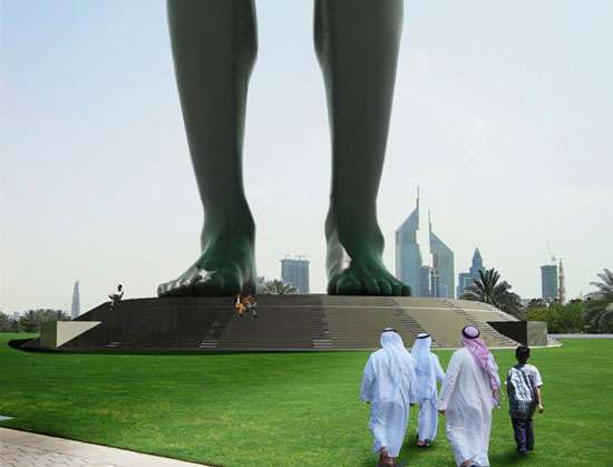 Monstrous Man Statues