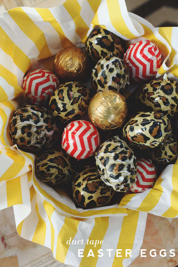 Decorated Duct Tape Eggs