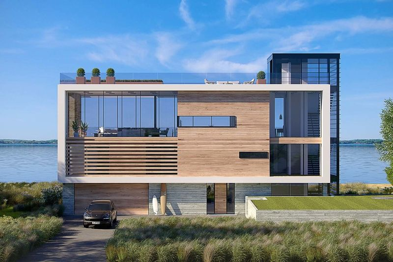 Ultra Modern Beach Houses Dune Road House