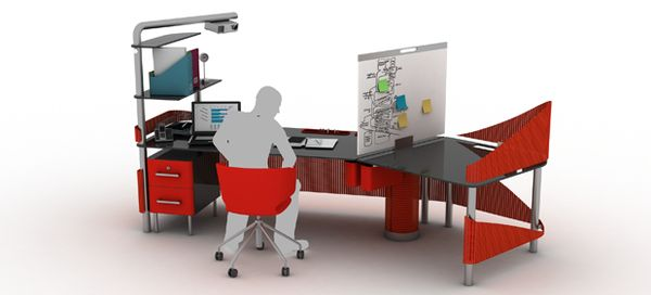 Adaptable Desk Designs Duo Office Workstation