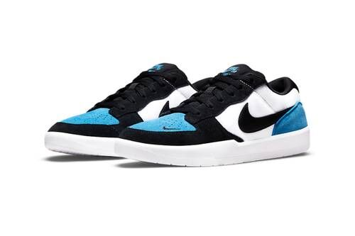 Blue-Tinted Low Basketball Sneakers