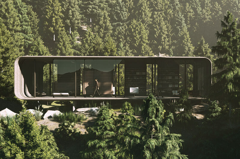 Open-Concept Seclusion Cabins