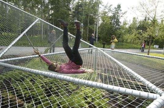 Trampolinesque Garden Structures Dymaxion Sleep Brings
