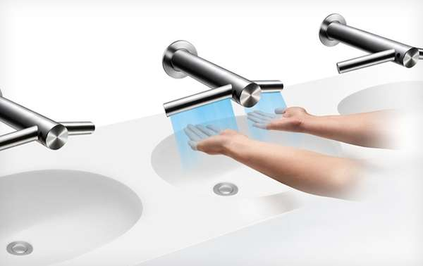 Built-In Hand Dryer Faucets