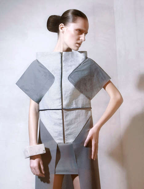 Sharp Origami-Inspired Couture