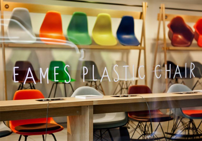 plastic chair pop up shops eames plastic chair. Black Bedroom Furniture Sets. Home Design Ideas