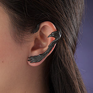 Occult Raven Earrings