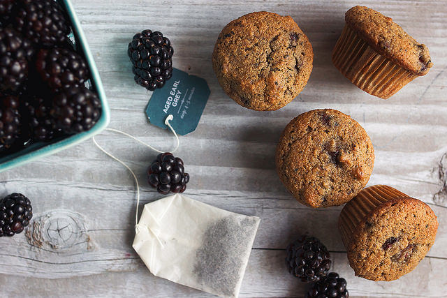 Tea-Infused Blackberry Muffins