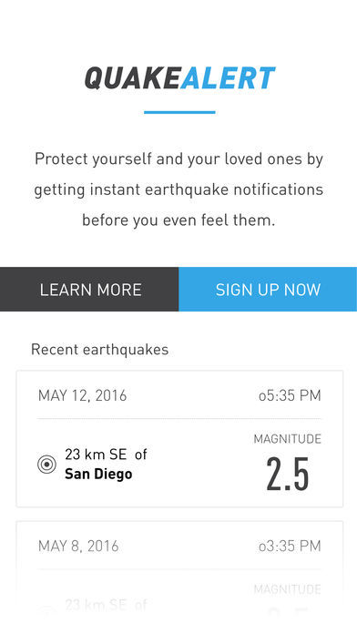 Earthquake Warning Apps