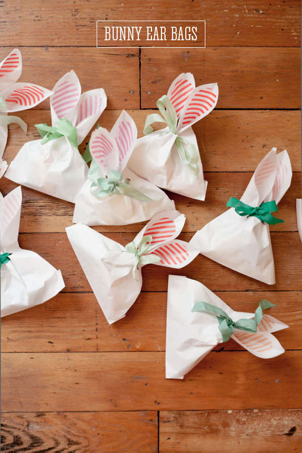 Diy bunny ear bags easter gift bags diy bunny ear bags negle Image collections