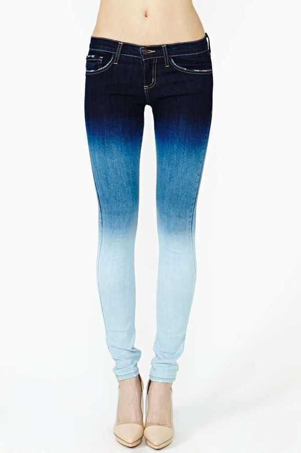 Ombre Fitted Jeans