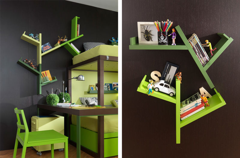 Tree-Mimicking Shelves