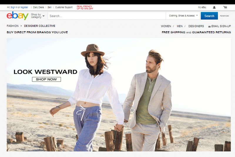 Aggregated Designer Web Shops