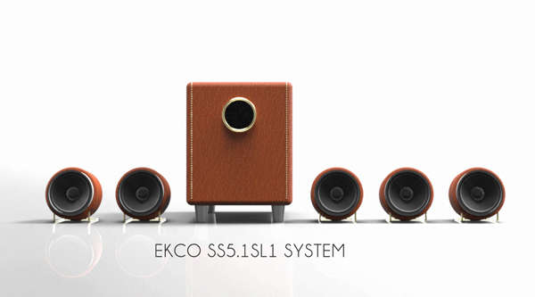 Leather-Bound Speakers