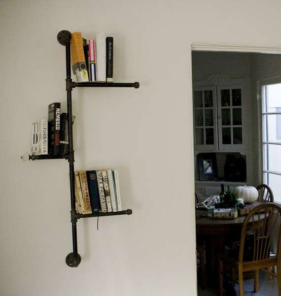 Industrial Pipeline Bookcases