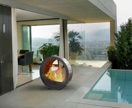Mobile Fireplaces Eclypsya Fireplace