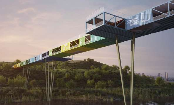 Sustainable Shipping Container Bridges