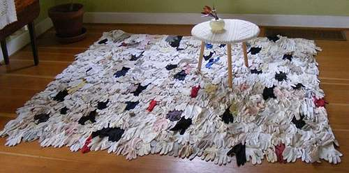 Rugs Made of Gloves