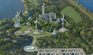 Wind-Powered Amusement Parks