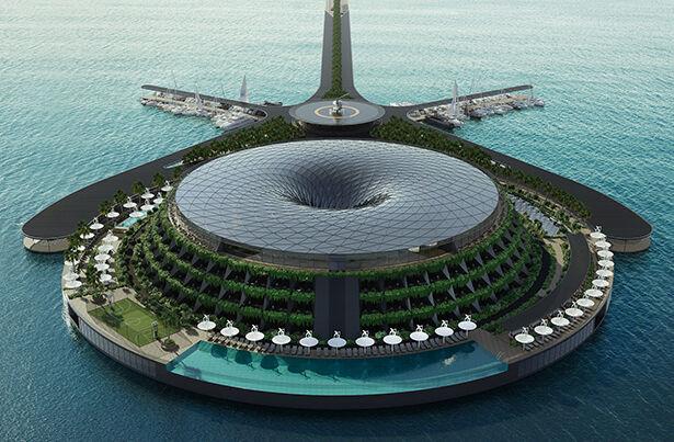 Aquatic Energy-Harvesting Floating Hotels
