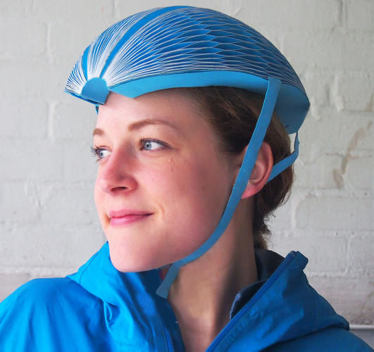 Collapsible Bike-Share Helmets