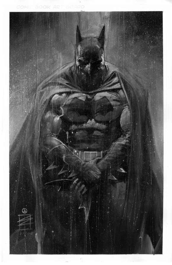 Monocromatic Superheroes Artwork