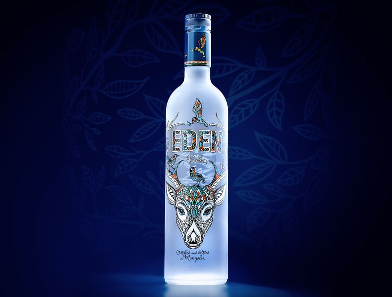 Garden-Themed Vodka Branding