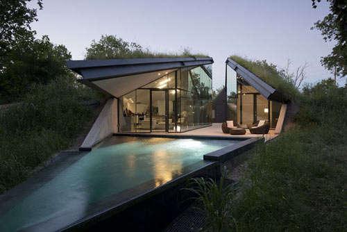Modern Sunken Houses