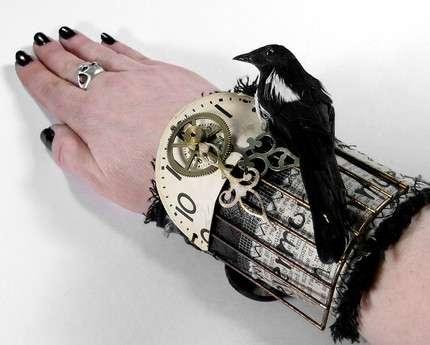 Gothic Bird Cuffs