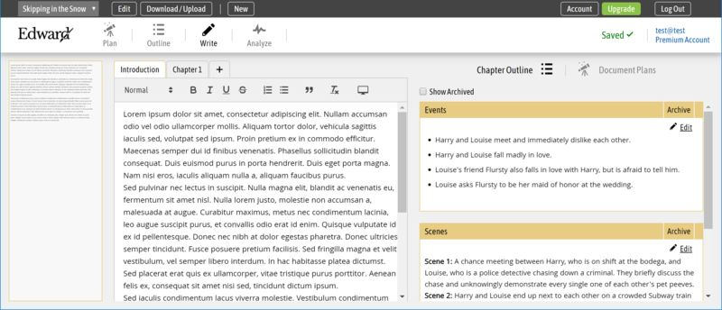 Novel-Focused Writing Software