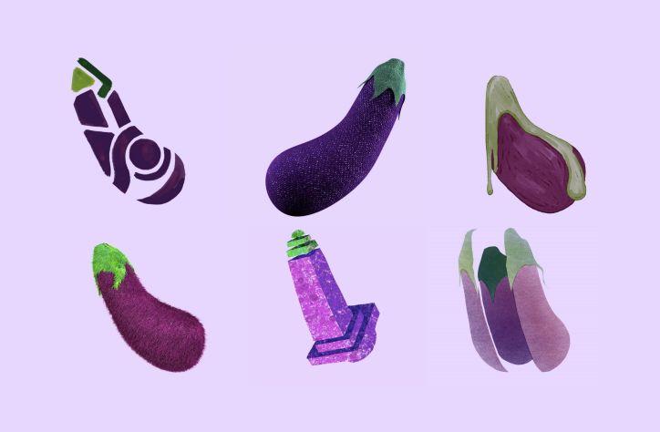 Animated Eggplant Emojis