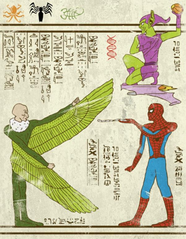 Egyptian Superhero Art