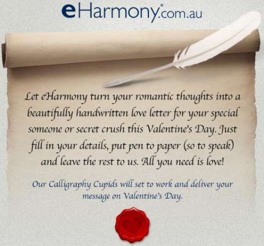 Romantic Message Deliveries  Eharmony Australia Love Letters