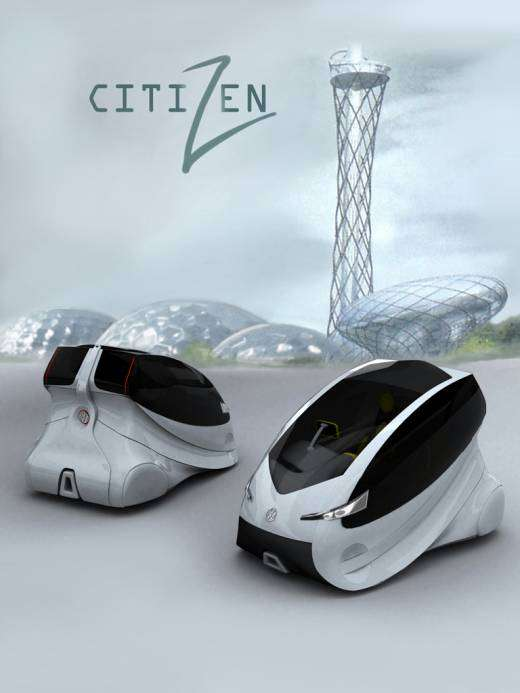 Aerodynamic Micro Cars Vw Citizen Hybrid