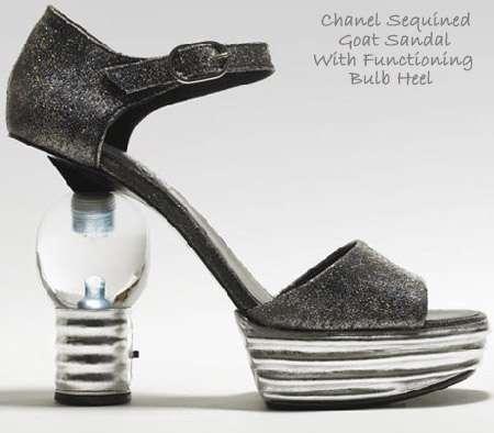 Illuminated Sequined Goatskin Shoes