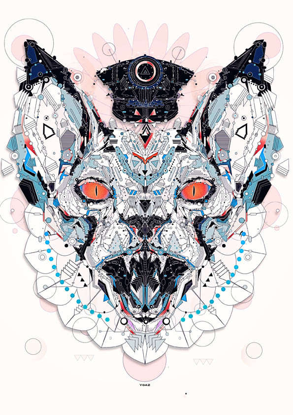 metallic animal illustrations   electro animals