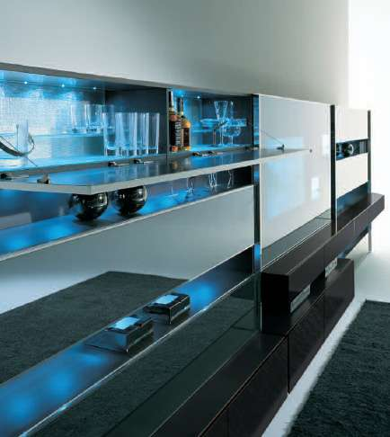 Entertainment Center With a Bar
