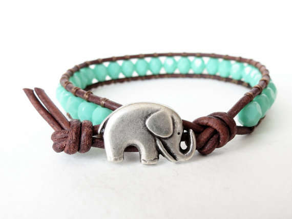 natural lion large products jewels bracelet elephant blue